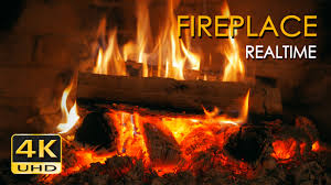 fire place 4k realtime fireplace relaxing fire burning video 3 hours no
