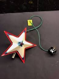 Star Christmas Tree Toppers Lighted - vintage noma lighted metal star christmas tree topper ebay