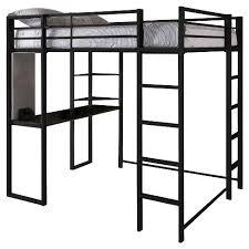 Black Bunk Bed With Desk Adele Loft Bed With Desk Black Room Target