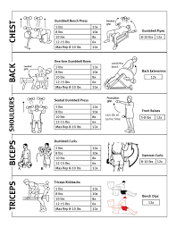 Max Bench For Body Weight Upper Body Weight Routine Jackiegettinfit