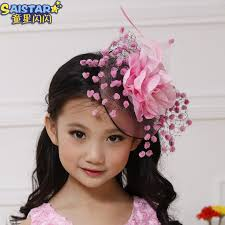 kids hair accessories big flower hairpin wedding hair children kids headwear