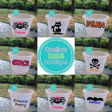 personalized buckets childrens personalized glow in the candy buckets