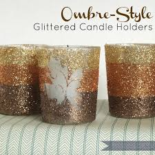 ombre style glittered candle holders becoming martha