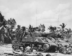 jeep tank military usmc m4a2 sherman tank 5 and jeep guam july 1945 world war photos
