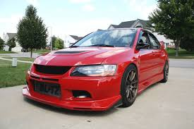 mitsubishi evo red mitsubishi lancer evolution tech voltex aero installation modified