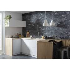 plaquette de parement pour cuisine une cuisine tendance avec un mur en plaquettes de parement leroy