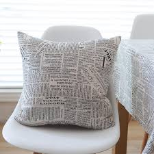 Newspaper Bedding Sale Vintage English Newspaper Home Decor Cotton Linen Home
