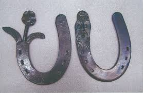 horseshoe ornaments unique forged items christian harness horsemen s association