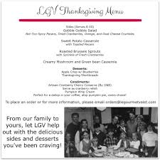 2014 thanksgiving menu le gourmet baking