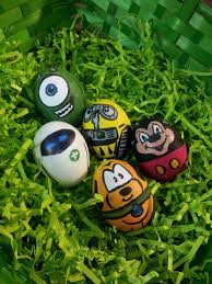 Disney Easter Egg Decorating Kit by Hand Painted Disney Pixar Easter Eggs Monsters Inc Wall E