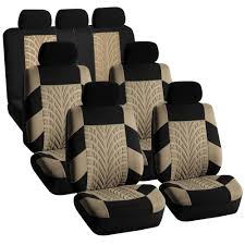 tactical jeep seat covers 3 row car suv van seat covers set for 7 seaters beige ebay