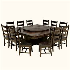 dining room table with 12 chairs modern pioneer solid wood lazy susan pedestal dining table chair