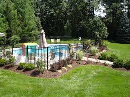 Small Backyard With Pool Landscaping Ideas Outdoor Above Ground Decks Landscaping Around Above Ground Pool