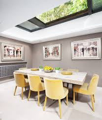 Gray Dining Room Ideas by Grey Yellow Dining Room Ideas For Cheerful And Elegant Dining Room