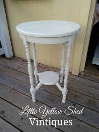 side table paint ideas refinished white antique side table little yellow shed vintiques