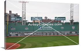 Fenway Map Green Monster Fenway Park Boston Red Sox Artsy Canvas