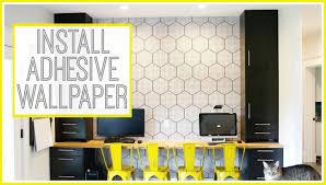 installing adhesive backed vinyl wallpaper youtube