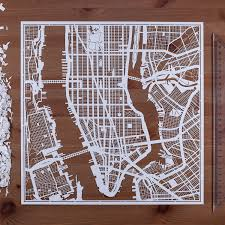 Map Paper Paper Cut Map Manhattan Ny 1212 In Paper Art Ideal Gifts