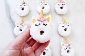 mini donuts backen rezept für süße einhorn donuts
