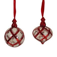 buy glass ornament sets from bed bath beyond