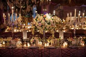 wedding candelabra centerpieces reception décor photos lush floral centerpieces inside weddings
