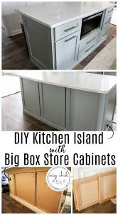 best big box store kitchen cabinets diy kitchen island makeover made with big box store