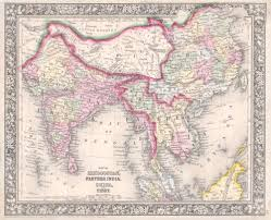 Southern And Eastern Asia Map by High Res Map Of South And East Asia In 1864 Old Map Pinterest