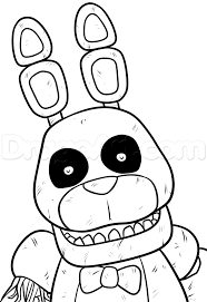 fnaf 4 coloring pages
