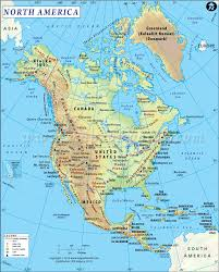 Map Of The United States Great Lakes by North America Physical Map Physical Map Of North America