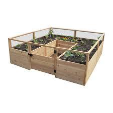 hewetson lawn u0026 garden wooden garden beds 8 u0027 x 8 u0027 raised cedar
