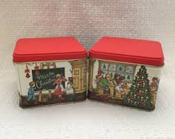 christmas tins 6 christmas tin planters christmas party containers