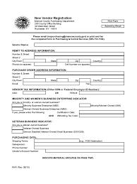 Registration Form Template Excel Vendor Application Form Template