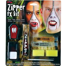 fake braces spirit halloween zipper fx make up kit fake zip zombie wound cut gore scar
