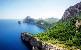 Beautiful Landscapes Beautiful Landscape With Blue Ocean And Rocks