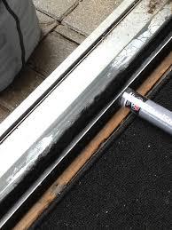 how to repair sliding glass door track patio doors sliding patio door track repair kitsliding rail glass