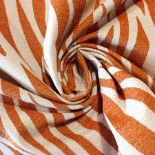 kin001c tamarind orange zebra safari chenille heavy upholstery
