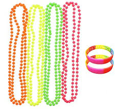 coloured beads necklace images Pack of 4 neon multi coloured necklace beads free pair of jpg
