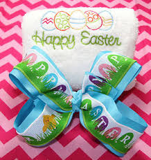 personalized easter eggs embroidered easter eggs towel and personalized easter eggs