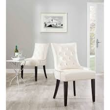 off white dining room set articles with white tufted dining chair with nailhead trim tag