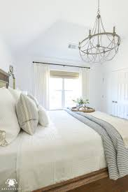 one room challenge classic blue and white guest bedroom reveal