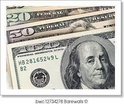 print of closeup hundred dollar bill barewalls posters