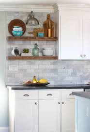 how to do backsplash in kitchen the craft patch how to install floating kitchen shelves over a tile