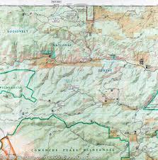atlas k che trail map of poudre river cameron pass colorado 112