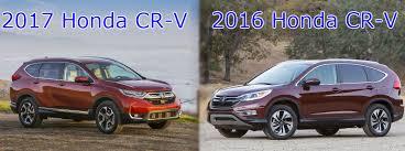 honda crv car how does the 2017 cr v compare to the 2016 planet honda