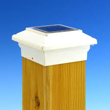 solar powered post lights solar powered fence post lamp zoom in