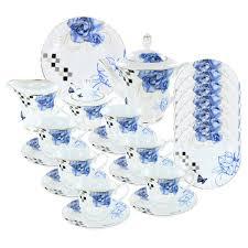roses tea set sapphire roses deluxe porcelain tea set