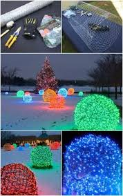 outdoor christmas light balls how to make christmas light balls christmas lights outdoor