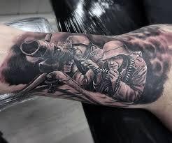 Machine Tattoo Ideas 70 Ww2 Tattoos For Men Memorial Military Ink Design Ideas