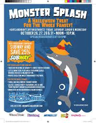 celebrate halloween with the miami seaquarium at monster splash