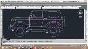 autocad design car in 2d autocad 3d cad model grabcad